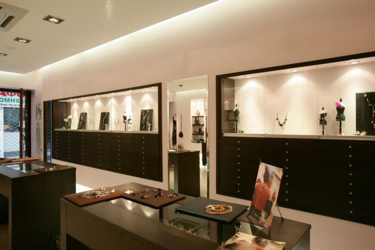Jewellery showroom interior design images joy studio for Jewellery showroom interior design images