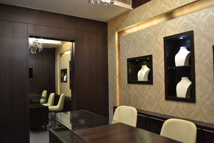 interior design decoration renovation remodel open jewellery showroom ...