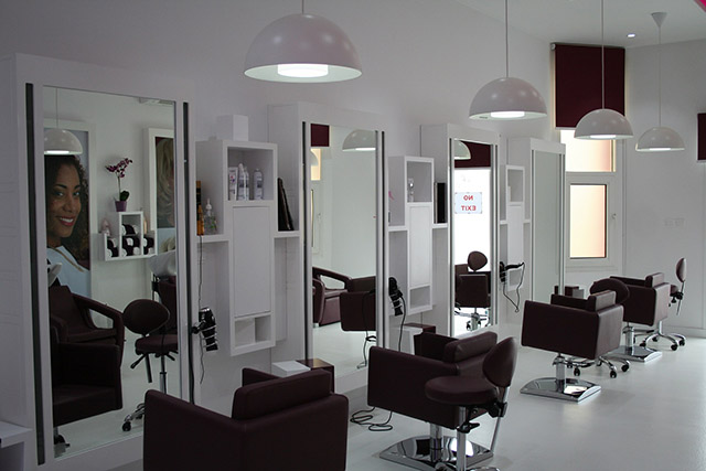 Renovate repair remodel redesign redecorate beauty salon for Photos salon design