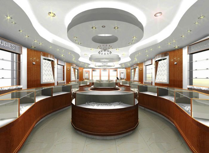 Top famous interior designer interior decorator for jewellery shop showroom in Delhi